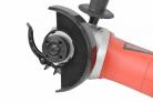 Elektrická úhlová bruska HECHT 1372 - polohovatelný kryt kotouče s rychloupínáním