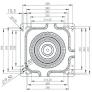 Otočná deska 360° Kramp - rozměry