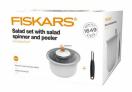 Sada na salát - odstředivka na vodu a škrab. FISKARS 1014432