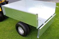 Sklápěcí vozík k zahradnímu traktoru VARES TRVMS - pozink