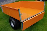 Sklápěcí vozík k zahradnímu traktoru VARES TRVMS pozink+barv