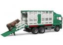 Nákladní auto k přepravě zvířat včetně 1 krávy BRUDER 02749