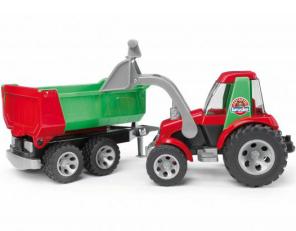 Traktor s čelním nakladačem a přívěsem BRUDER 20116