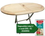 Zahradní skládací stůl TEXIM Olaf 120 x 90 cm