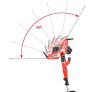 Elektrické tyčové nůžky na živý plot HECHT 675 - sklopení lišty v rozsahu 100°