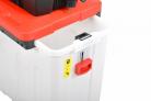 Elektrický drtič větví HECHT 6285 XL Silent - 60-ti litrový sběrný box