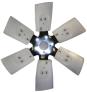 Ventilátor plastový 6 listů 35° (M97) 6001-1360