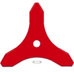 Nůž pro křovinořez univerzální 3-zubý 255 mm OREGON 295496-0