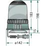 Maják na magnet H1 12V GRANIT - rozkres
