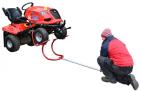 Kolébkový zvedák DAKR vyzvedne zahradní traktor do výšky 45 cm