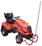 Kolébkový zvedák zahradních traktorů DAKR lze přizpůsobit pro různé rozchody kol