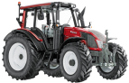 Model traktoru VALTRA N143 HiTech - červený